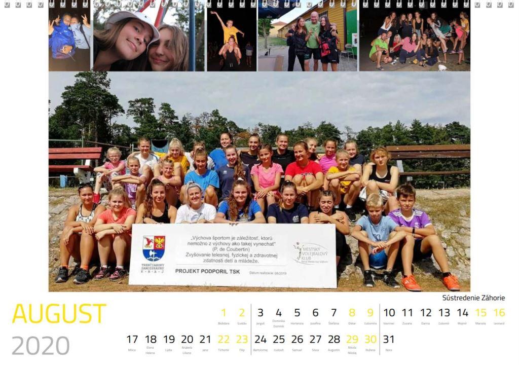 volejbal august kalendár MVK 2020