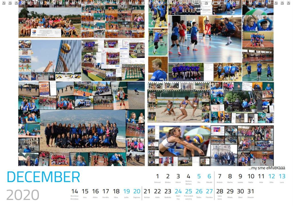 volejbal december kalendár MVK 2020