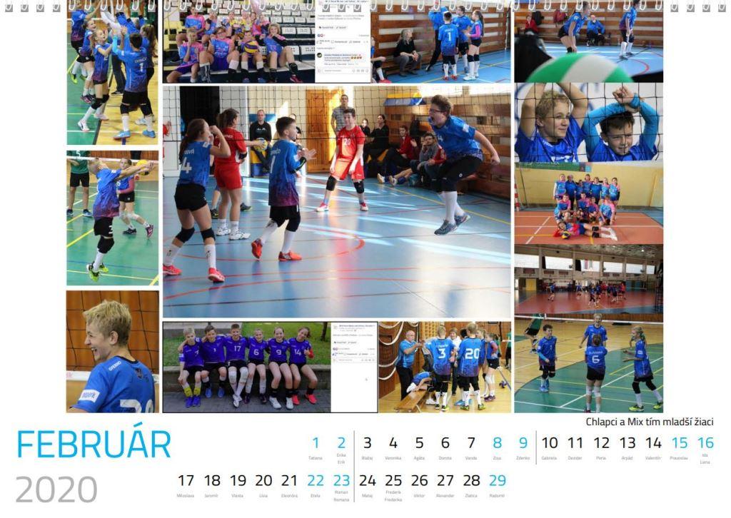 volejbal február kalendár MVK 2020