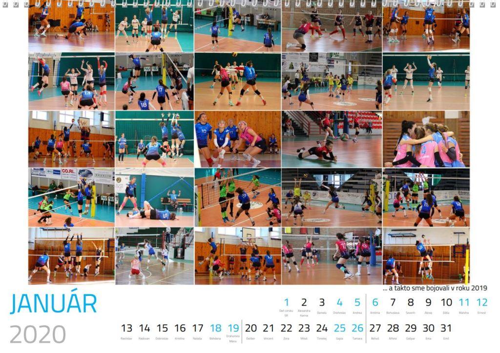 volejbal január kalendár MVK 2020