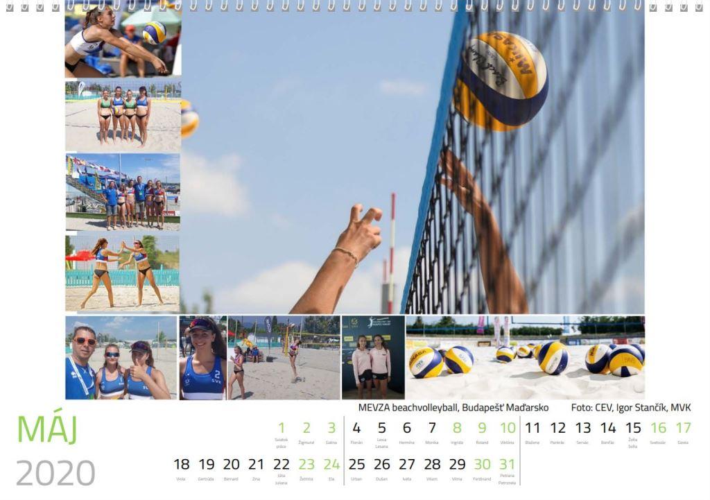 volejbal máj kalendár MVK 2020