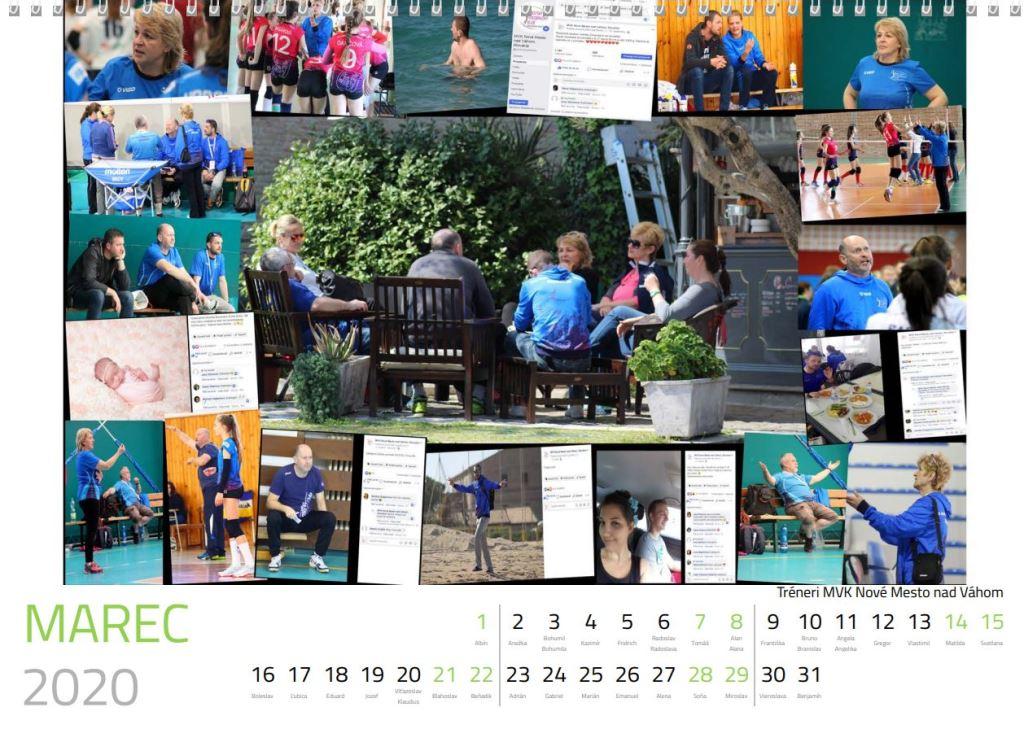 volejbal marec kalendár MVK 2020