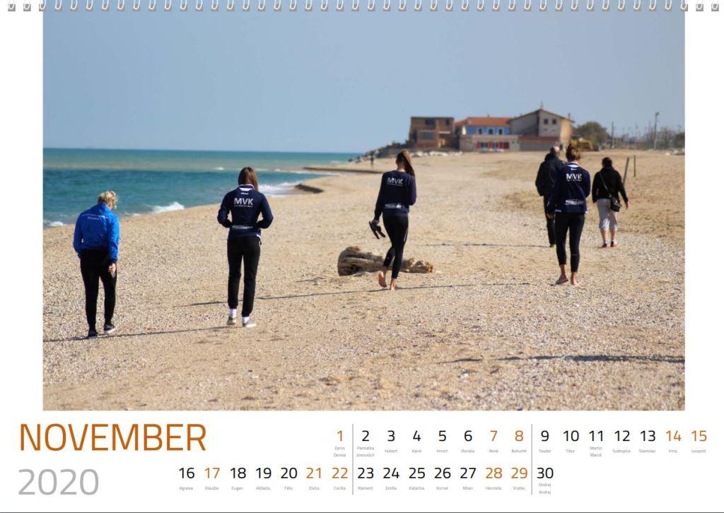 volejbal november kalendár MVK 2020